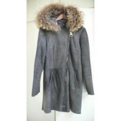 Manteau en cuir Sam Rone  pas cher