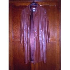 Manteau en cuir La Redoute  pas cher