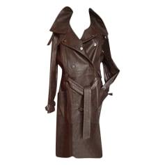 Manteau en cuir Emporio Armani  pas cher