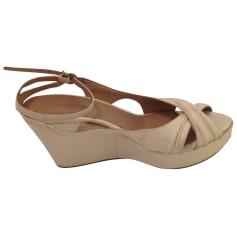 Sandales compensées Gaia d'este  pas cher