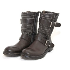 Bottines & low boots motards Fru.it  pas cher