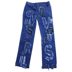 Jeans droit Versus Versace  pas cher
