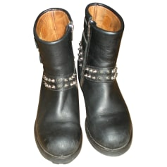 Bottines & low boots motards Osmose  pas cher