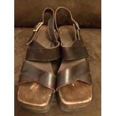 Sandales compensées Levi's  pas cher