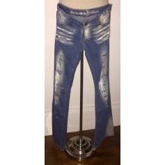 Jeans évasé, boot-cut Destroyed Brand  pas cher