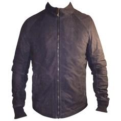 Leather Zipped Jacket Rick Owens