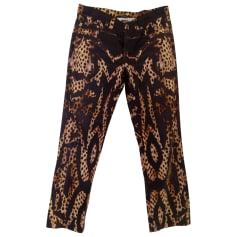 Pantalon droit Roberto Cavalli  pas cher