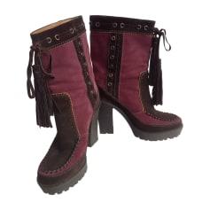 Bottines & low boots à talons Yves Saint Laurent Downtown pas cher