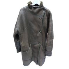Manteau en fourrure Daim style  pas cher