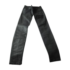 Pantalone slim, a sigaretta Burberry