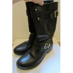 Bottines & low boots motards Cosmo  pas cher