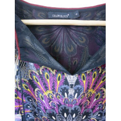 Robe mi-longue Color Block  pas cher