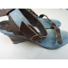 Sandales compensées Myma  pas cher