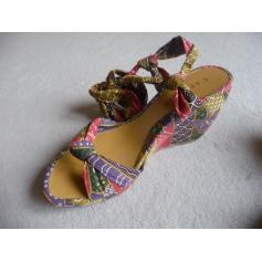 Wedge Sandals Cafe Noir