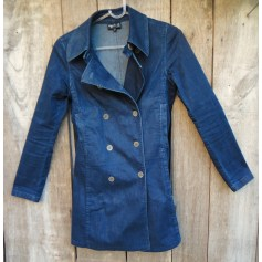 Manteau en jean Agnès B.  pas cher