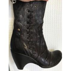 Bottines & low boots à compensés Vero Cuoio  pas cher