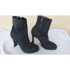 Bottines & low boots à compensés David Ackerman  pas cher