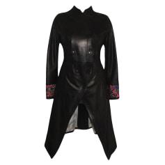 Manteau en cuir John Galliano  pas cher