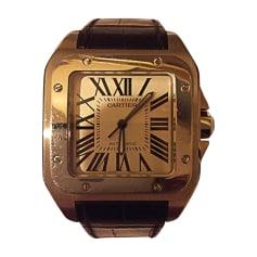 Montre au poignet Cartier Santos pas cher