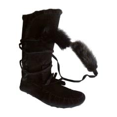 Bottines & low boots plates Yves Saint Laurent  pas cher