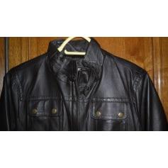 Veste en cuir La Halle Aux Vêtements  pas cher
