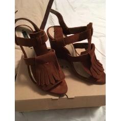 Sandales compensées Zara  pas cher