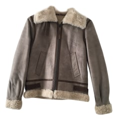 Manteau en cuir Comptoir Des Cotonniers  pas cher