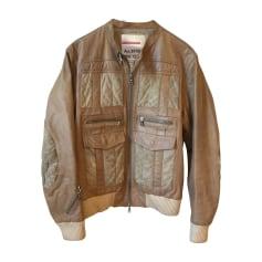 Leather Zipped Jacket Prada