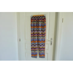 Pantalon droit Color Block  pas cher