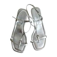 Sandales plates  Prada  pas cher
