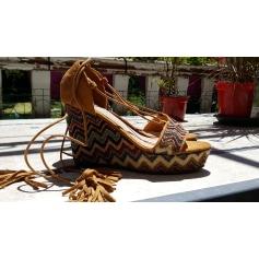 Sandales compensées Suredelle  pas cher