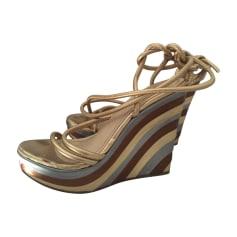 Sandales compensées Moschino  pas cher