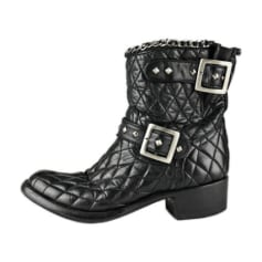 Bottines & low boots motards Mexicana  pas cher