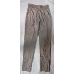 Pantalon slim, cigarette Purple Green  pas cher