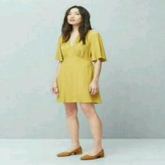 Robe mi-longue Mango  pas cher