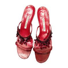Sandales à talons Manolo Blahnik  pas cher