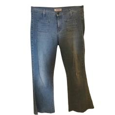 Jeans très evasé, patte d'éléphant Guess  pas cher