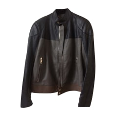 Leather Zipped Jacket Louis Vuitton