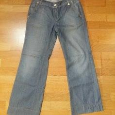 Jeans très evasé, patte d'éléphant School Rag  pas cher