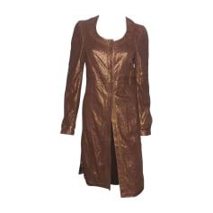 Manteau en cuir Gianfranco Ferre  pas cher