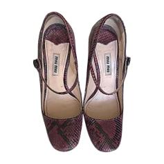 Chaussures à lacets  Miu Miu  pas cher