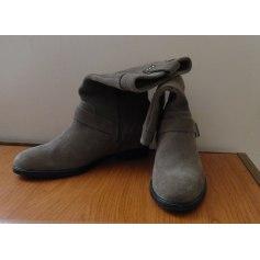 Bottines & low boots plates Couleur Pourpre  pas cher
