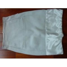 Jupe courte Blanc Bleu  pas cher