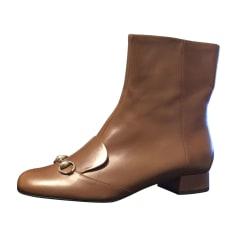 Bottines & low boots plates Gucci  pas cher