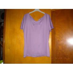 Top, tee-shirt Bleu Bonheur  pas cher