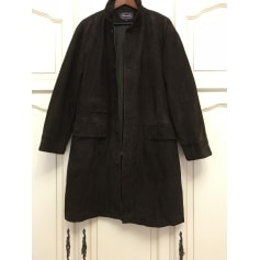 Manteau en cuir Albert Goldberg  pas cher
