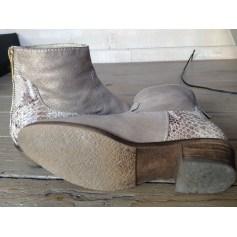 Bottines & low boots plates Reqins  pas cher