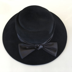 Chapeau VeloursNoir  pas cher