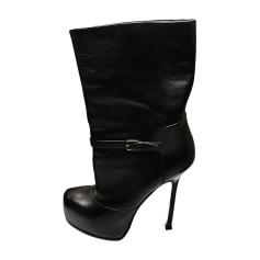 Bottines & low boots à compensés Yves Saint Laurent Tribute pas cher
