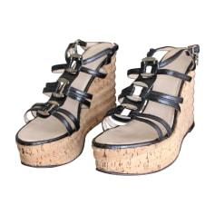 Sandales compensées Chanel  pas cher